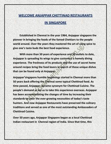 Anjappar Singapore Home Delivery Menu Download
