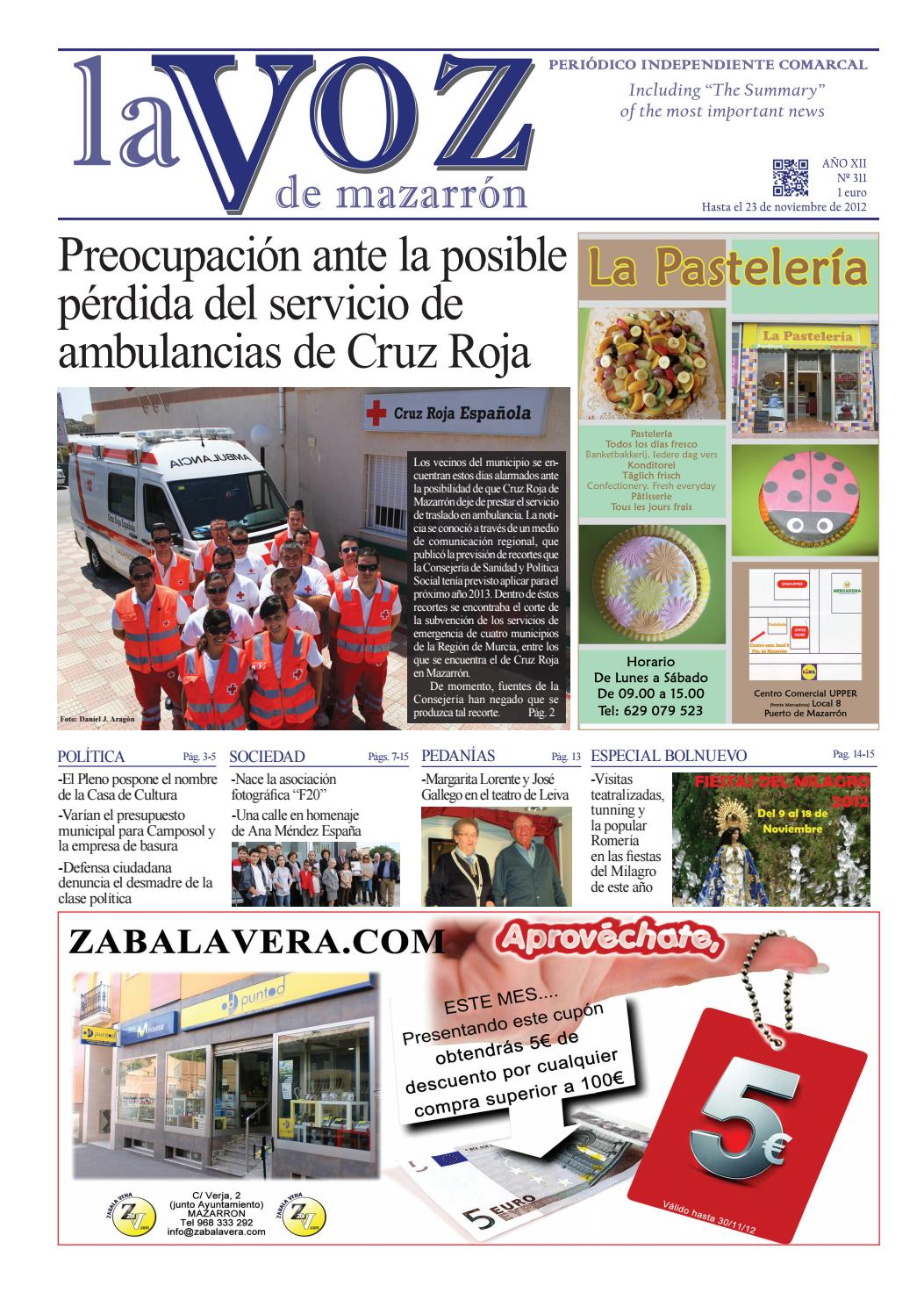 cc4482ee1f2 Voz311 by La Voz de Mazarrón (Periódico) - issuu