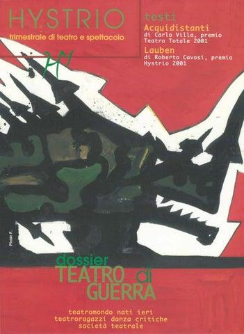 Hystrio 2002 1 Gennaio Marzo By Issuu