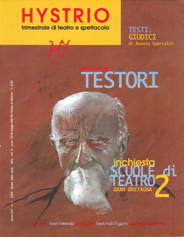 Hystrio 2003 1 gennaio-marzo by Hystrio - issuu afedb930405a