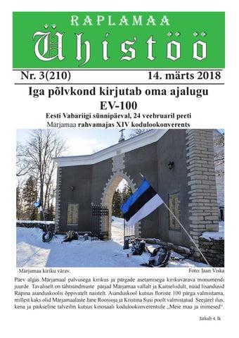 81d39ae4cc0 Raplamaa Ühistöö nr 3, 14. märts 2018 by Peeter Piir - issuu
