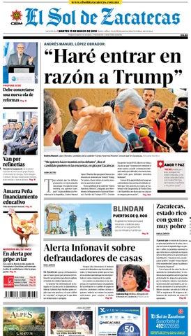 b0b1f7ff4d El Sol de Zacatecas 13 de marzo 2018 by El Sol de Zacatecas - issuu