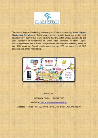 Best Digital Marketing Services In India by clarustech - issuu
