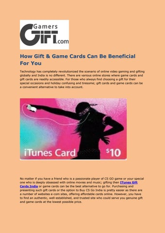 How gift & game cards can be beneficial for you by GamersGift - issuu