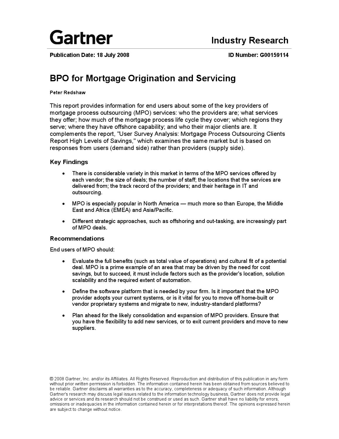 BPO for mortgage origination and servicing by Mark Smith - issuu