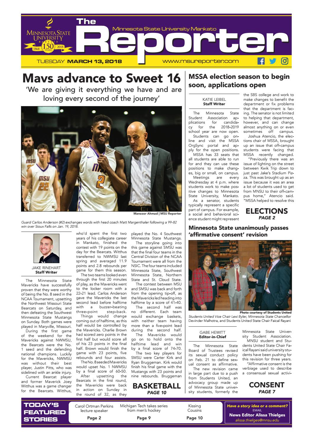 March 13, 2018 by MSU Reporter - issuu