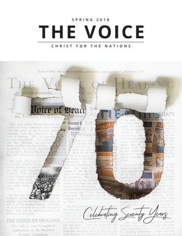 The voice spring 2018 by Christ For The Nations The Voice Magazine