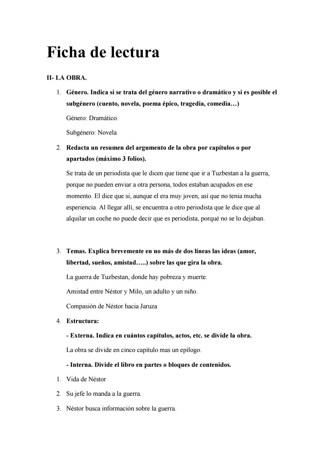 Ficha De Lectura By Xavierlj2003 Gmail Com Issuu