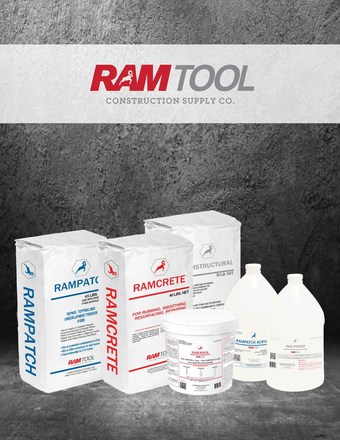 Private Label Concrete Booklet By Ram Tool Construction