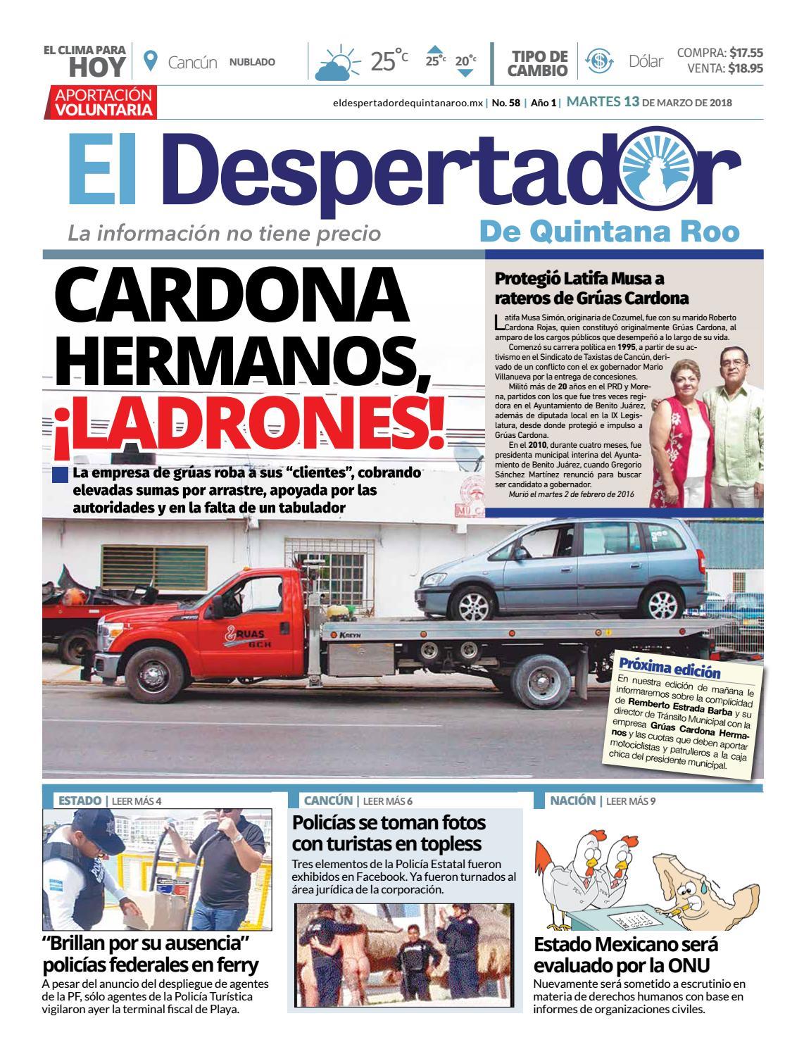 El Despertador de Quintana Roo 13-3-2018 by eldespertadorqr - issuu