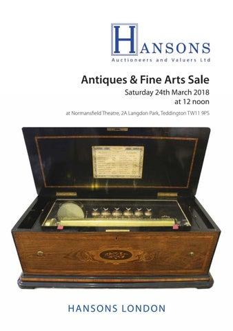 73eb03f28 Antiques & Fine Arts Sale Saturday 24th March 2018 at 12 noon at  Normansfield Theatre, 2A Langdon Park, Teddington TW11 9PS