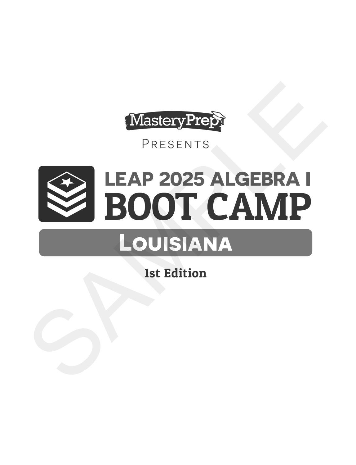 Sample | LEAP 2025 Algebra I Boot Camp | 1st Edition by ...