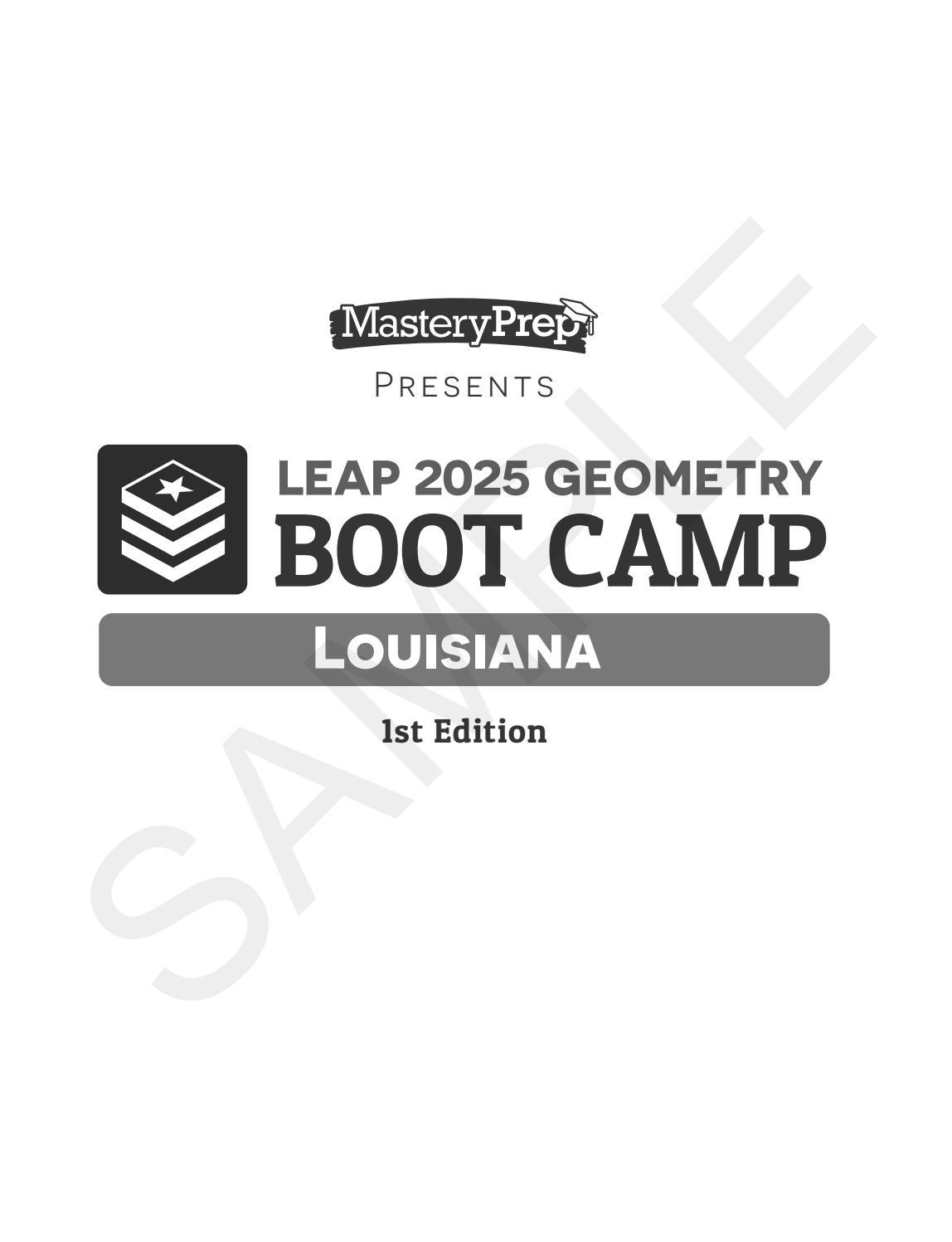 Sample LEAP 2025 Geometry Boot Camp