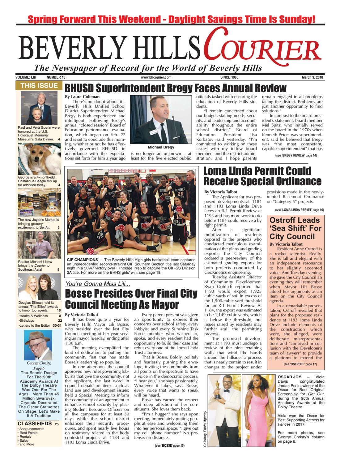 BHCourier E-edition 030918 by The Beverly Hills Courier - issuu