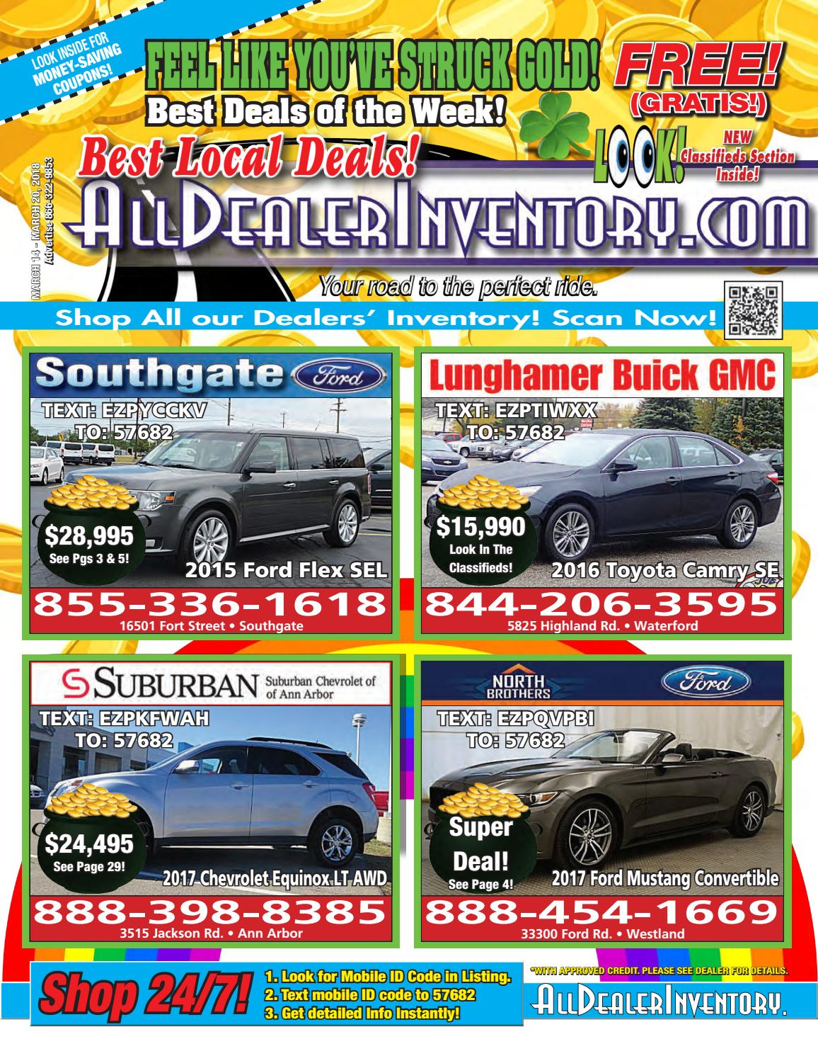 Best Auto Deals >> All Dealer Inventory S March 14th Edition Shop The Best