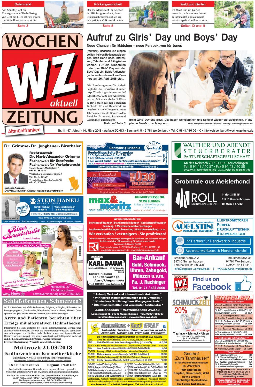 Wochenzeitung Weissenburg Kw 11 18 By Wochenzeitung Sonntagszeitung