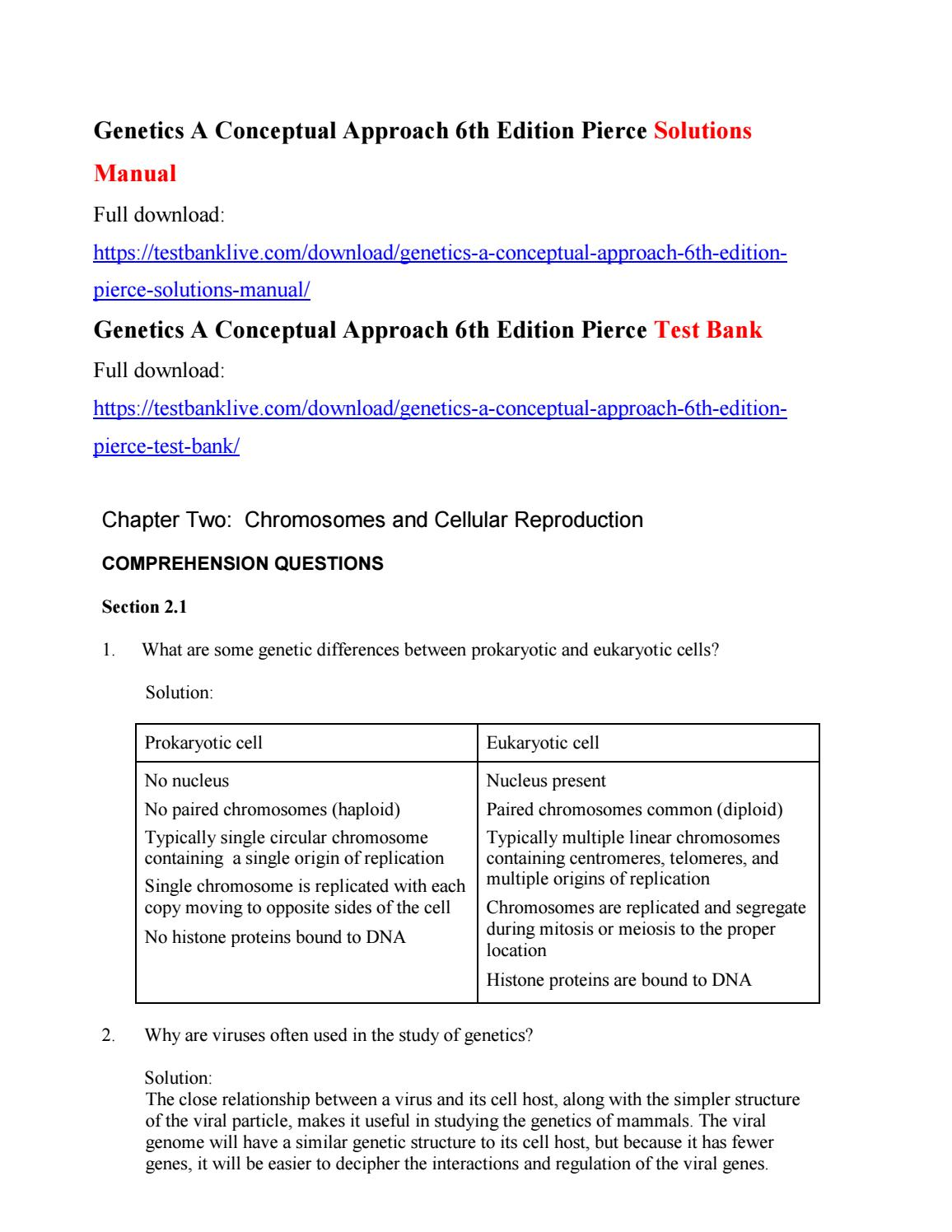 Genetics a conceptual approach 6th edition pierce solutions manual by  ccc224 - issuu