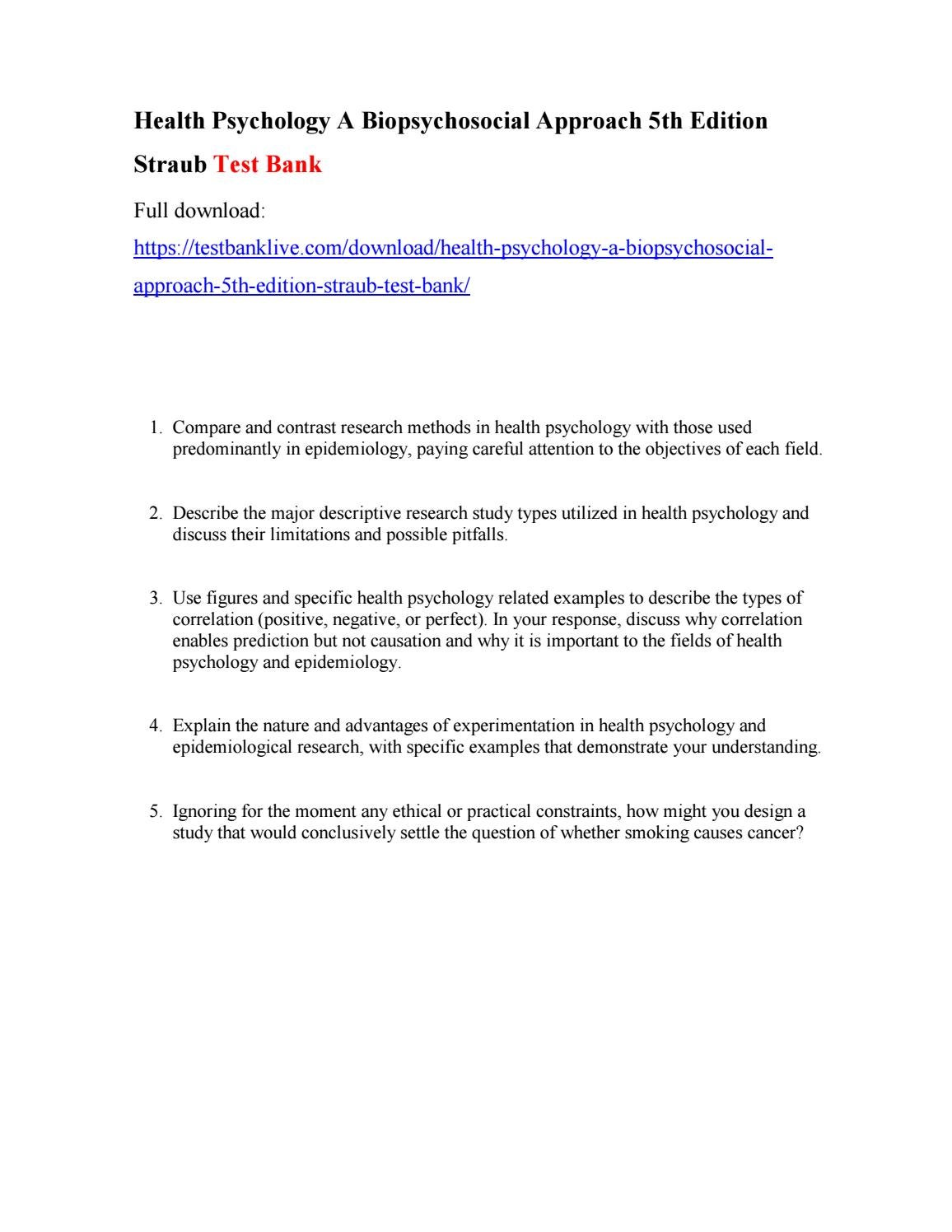 biopsychosocial model of health advantages and disadvantages