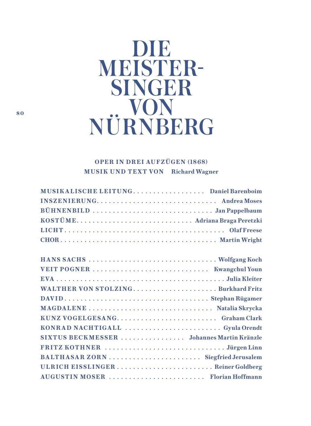 Attraktiv Meister Koch Das Beste Von Staatsoper Unter Den Linden: Saison 2018/19 By