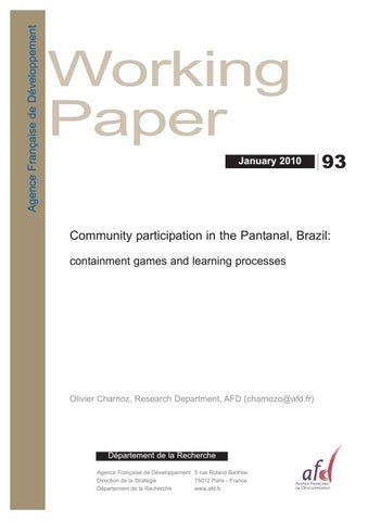 Community participation in the Pantanal, Brazil: containment games