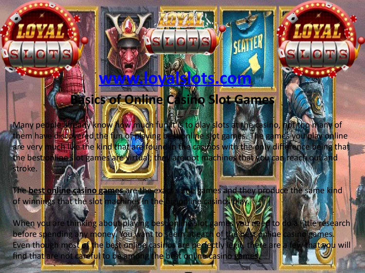 Basics Of Online Casino Slot Games By Global Site Solution Issuu