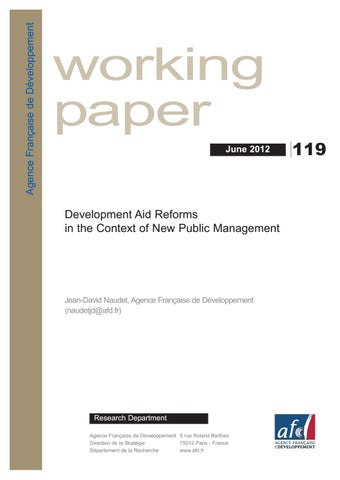 Development Aid Reforms in the Context of New Public Management by