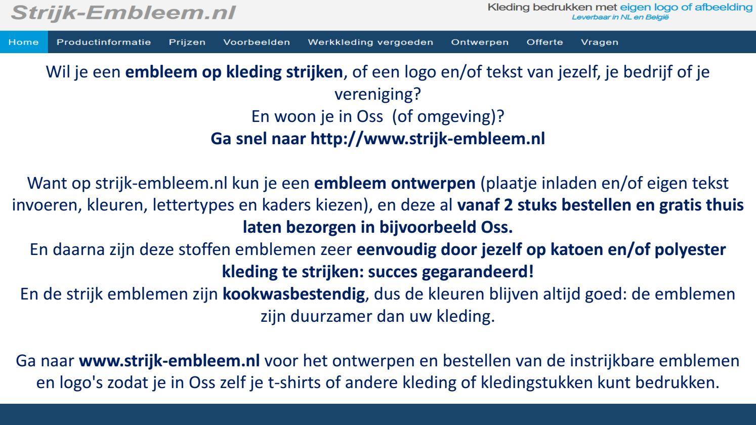 Kleding Strijken Embleem Oss Issuu By Strijk xdBreCo