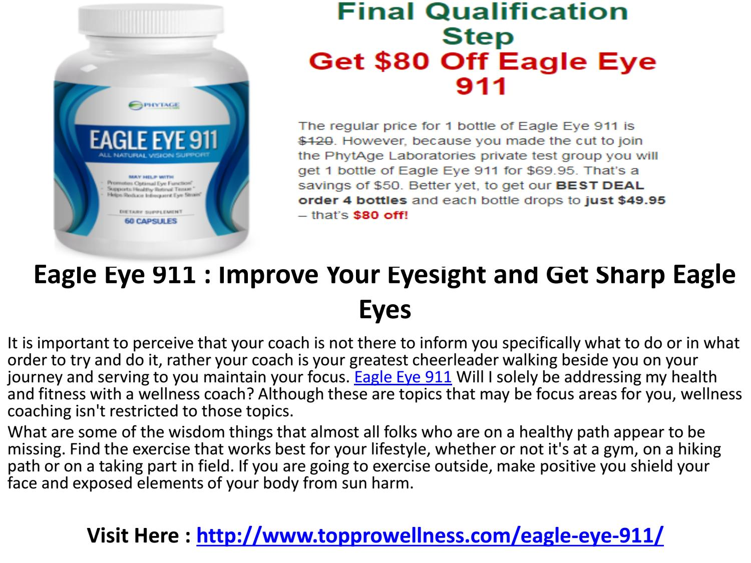 Eagle Eye 911 Boost the functioning of eye by Top Pro Wellness - issuu