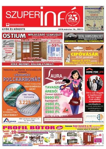 e5dea322ede8 Győri Szuperinfó XXI./11. – 2018.03.16. by Arrabonamedia - issuu