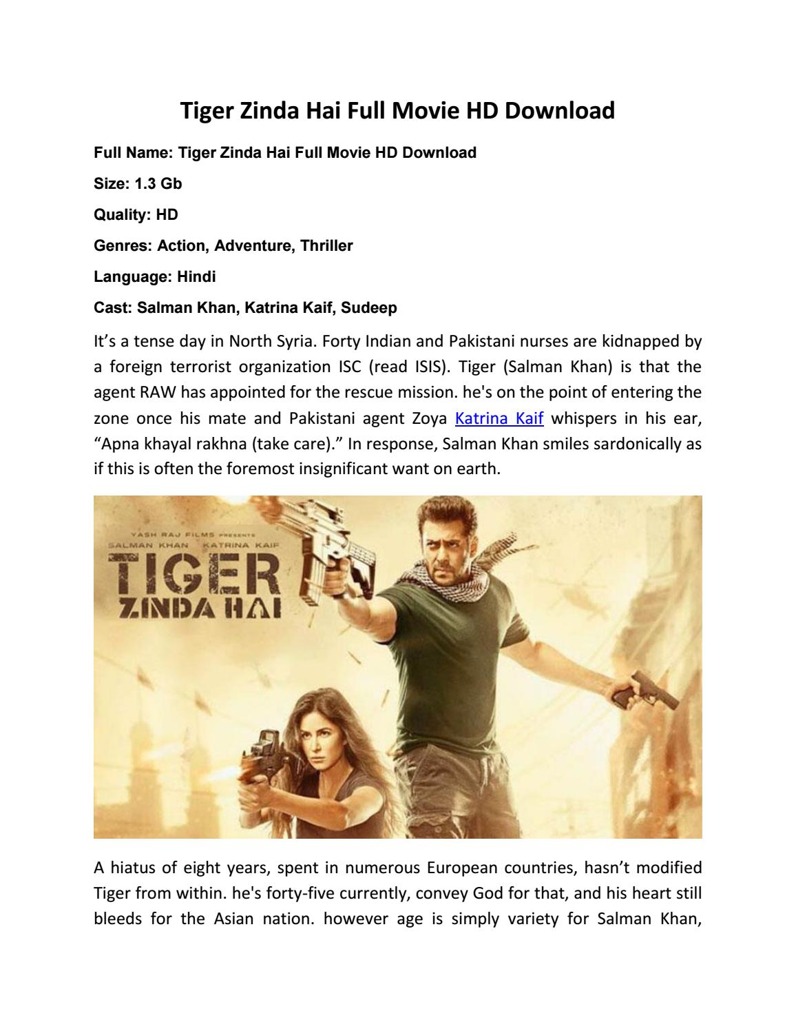 Tiger Zinda Hai Full Movie Hd Download Bollyhoodmovies Com By Imran