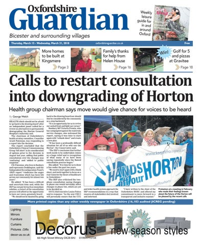 b7a2c4e6 15 march 2018 oxfordshire guardian bicester by Taylor Newspapers - issuu
