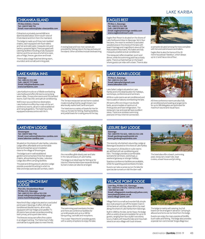 Destination Zambia 2018 by Land & Marine Publications Ltd  - issuu