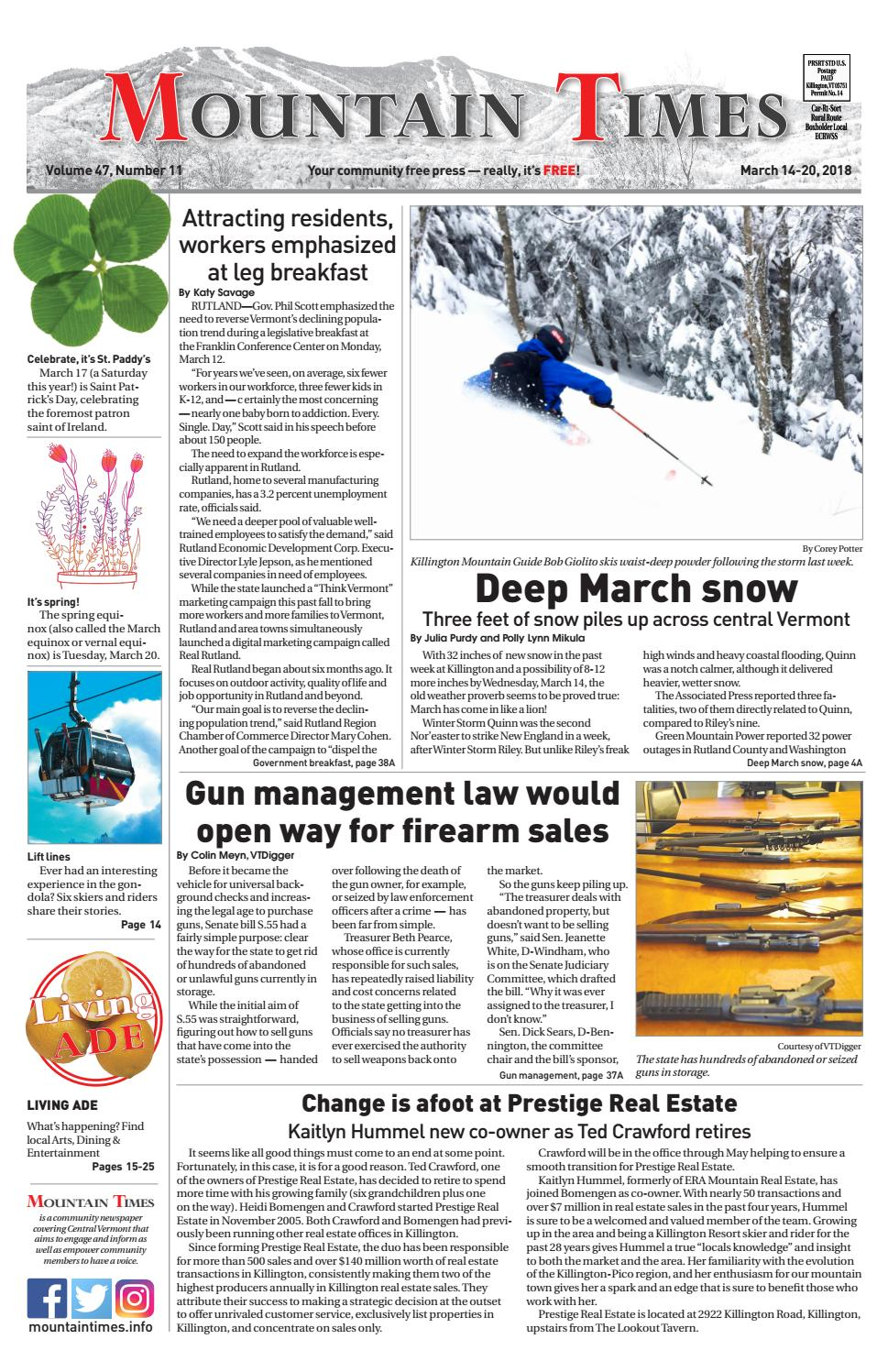 Mountaint Times March 14 2018 By Polly Lynn