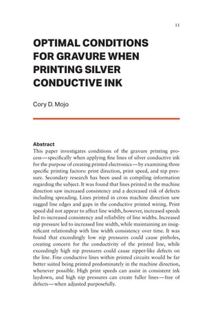 Page 11 of Optimal Conditions for Gravure When Printing Silver Conductive Ink