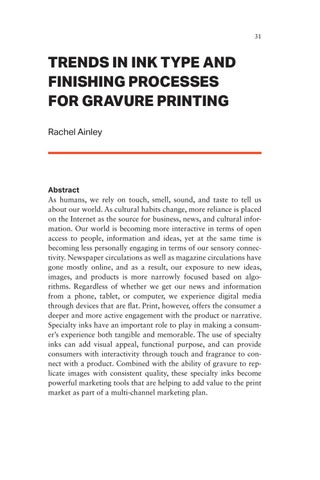 Page 31 of Trends in Ink Type and Finishing Processes for Gravure Printing