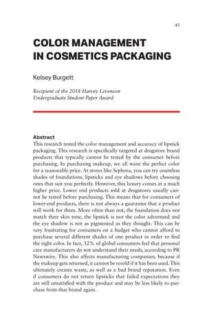 Page 45 of Color Management in Cosmetics Packaging
