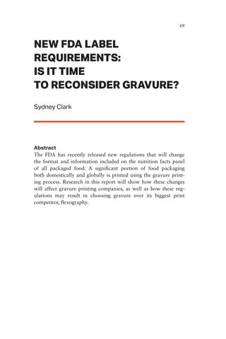 Page 69 of New FDA Label Requirements: Is it Time to Reconsider Gravure?