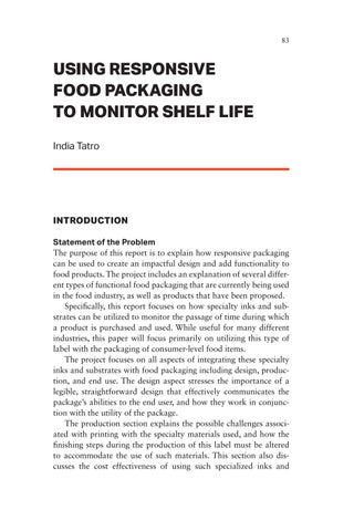 Page 83 of Using Responsive Food Packaging to Monitor Shelf Life