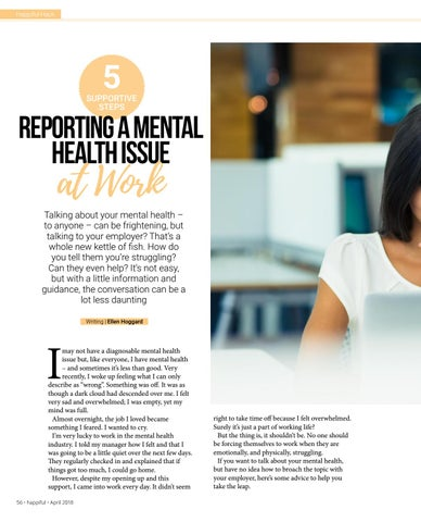 Page 56 of Reporting a Mental Health Issue at Work
