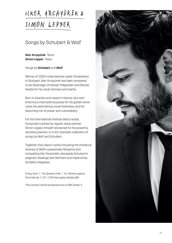 2018 Edinburgh International Festival brochure by Edinburgh