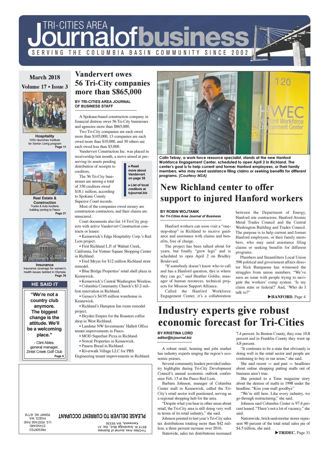 Tri-Cities Area Journal of Business -- March 2018 by Tri-Cities Area ...