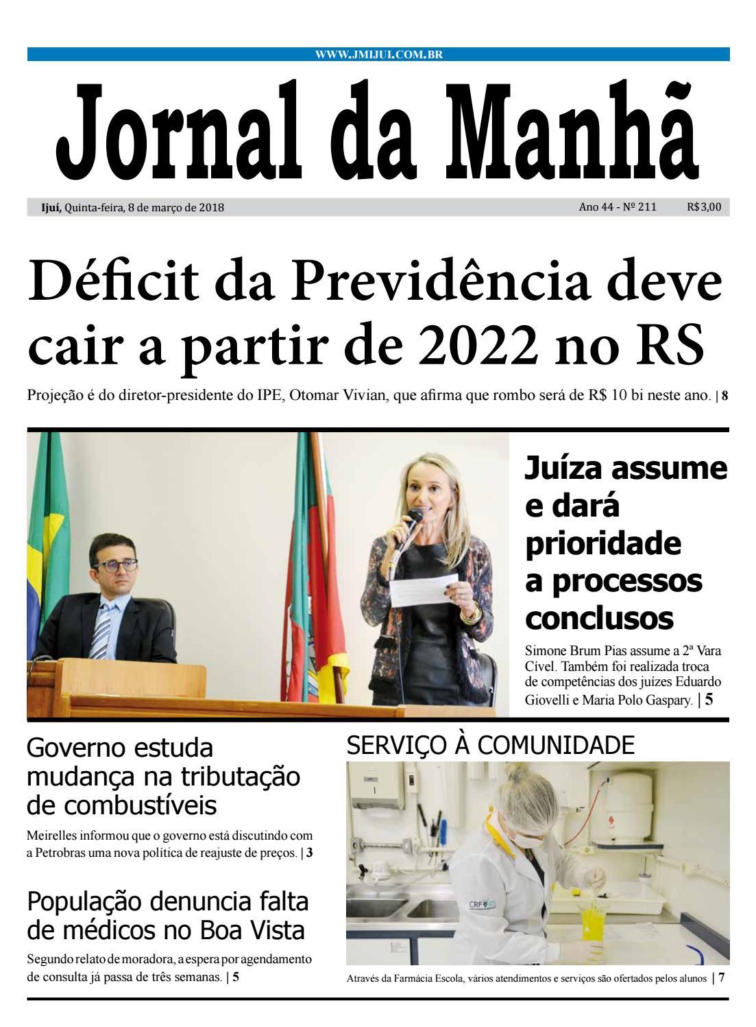 5101307c86b Jornal da Manhã - Quinta-feira - 08-03-18 by clicjm - issuu