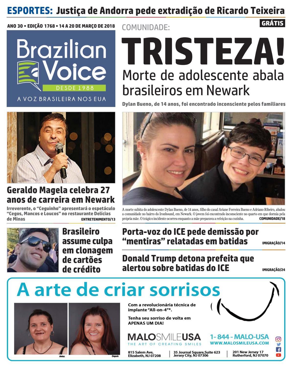 1616936a743 Edição 1768 de 14 a 20 de março de 2018 by Brazilian Voice Newspaper - issuu