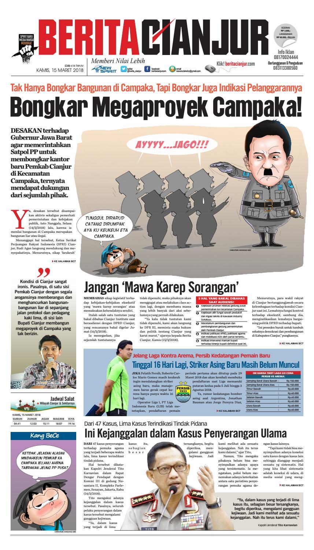Berita Cianjur Bongkar Megaproyek Campaka By Beritacianjurcom
