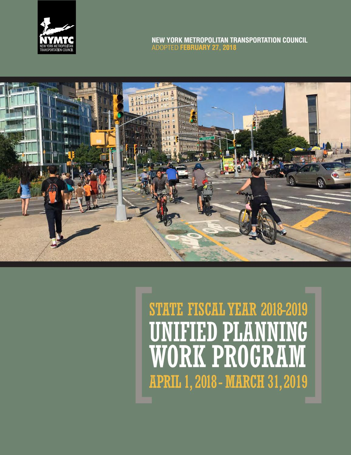 NYMTC's 2018-2019 Unified Planning Work Program by New York