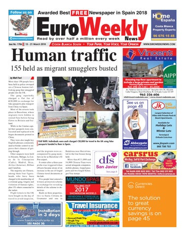 77bb68b02e1c Euro Weekly News - Costa Blanca South 15 - 21 March 2018 Issue 1706 ...
