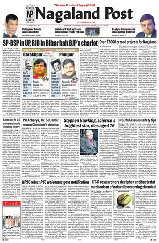 March 15 2018 by Nagaland Post issuu