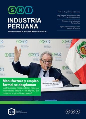 Revista Industria Peruana - Enero - Febrero 2018 by Sociedad ... 309d47f0168