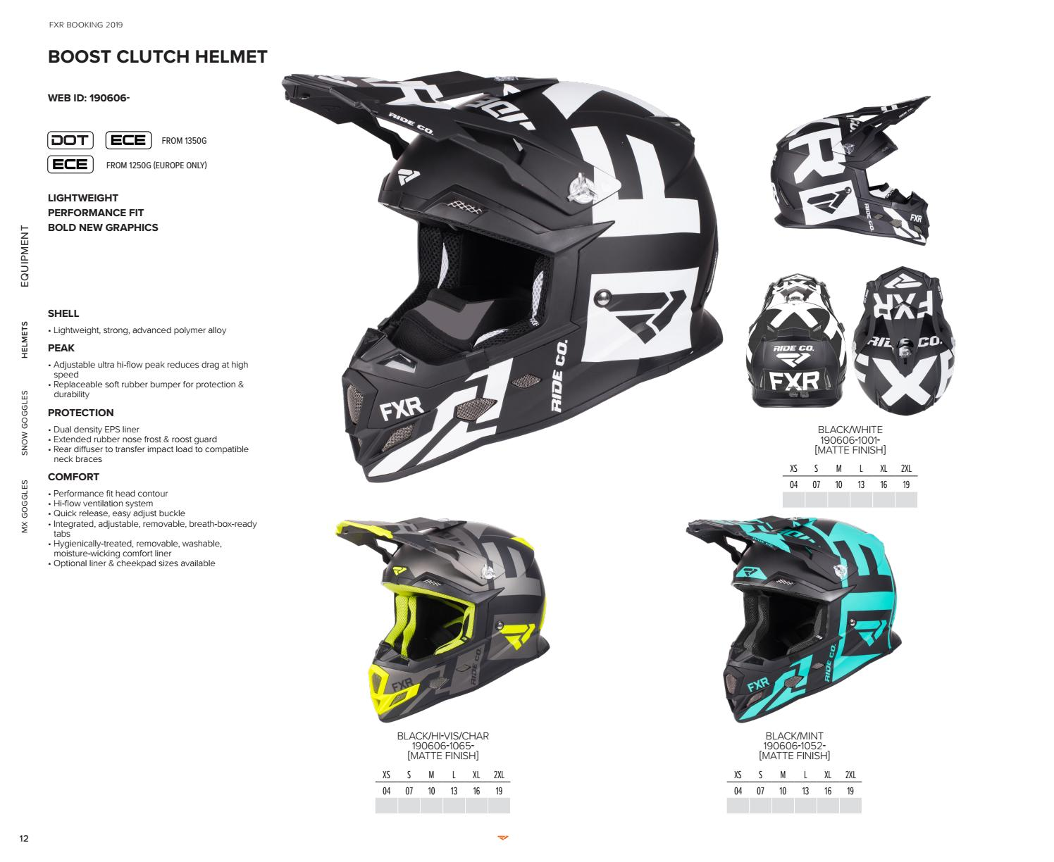 29303263 FXR 2019 Snow Helmet + Goggle Booking Catalog by FXR Racing - issuu