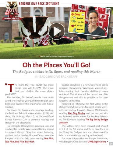 Varsity Magazine - March 14, 2018 by Wisconsin Badgers - issuu